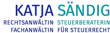 Katja Sändig – Rechtsanwältin, Steuerberaterin, Fachanwältin für Steuerrecht